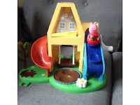 Peppa pig weeble house with peppa figure