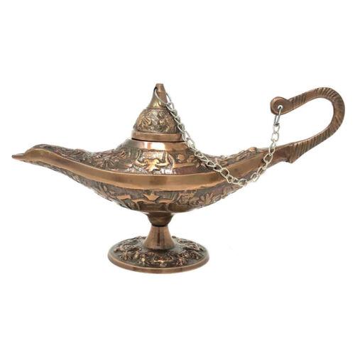 "NEW Brass Genie Lamp 6"" Miniature Copper Finish Aladdin Arabian Vintage Style"