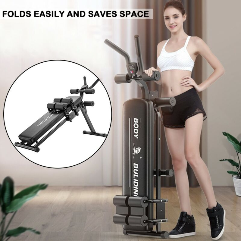 Foldable Decline Sit Up Bench Crunch Board Fitness Home Gym