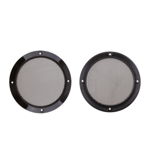 "MagiDeal 2x 5"" Car Audio Speaker Cover Decorative Circle Met"
