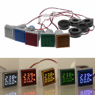 Ac 60-500v 0-100a Digital Voltmeter Ammeter Dual Led Amp Volt Meter Shunt