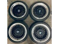 """19"""" BMW BBS LMS ALLOYS WHEELS WITH TYRES - 5x120 staggered wider rear dish e60 e61 e63 e64"""