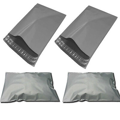 1000 x Plastic Strong Packaging Postal Polythene Grey Mail Bag 9X12 inch/23x30cm
