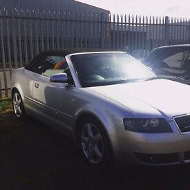 2005 Audi A4 Quattro Convertible 1.8t Low Miles Great Condition Full Years Mot ono