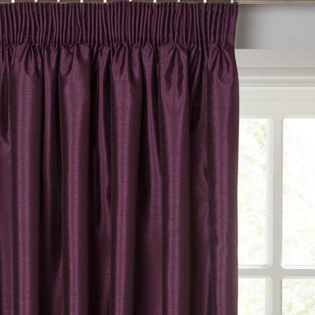 Curtains 220 Drop 2 Pairs Lined Pencil Pleat Ideal For