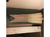 Goddiva Sequin Champagne Ball Gown REDUCED