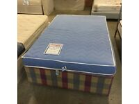 4ft Small Double divan bed (mattress and base) with 4 storage drawers