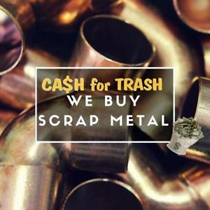 CA$H FOR TRASH Scrap Metal, Steel, Aluminum, Copper, Cars, Batteries, Iron, Trucks, and More!