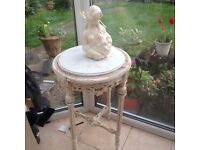 Shabby sheik occasional table.with marble top very ornate as new condition.