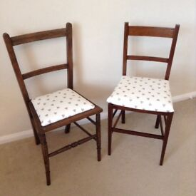 Up cycled vintage chairs