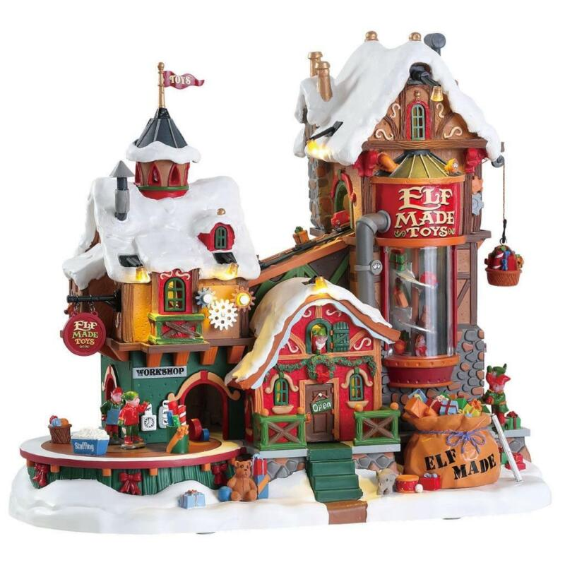 Lemax Christmas Village 2017 ELF MADE TOY FACTORY #75190 NRFB Sights & Sounds *