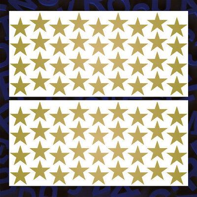 Gold Aufkleber Set (Sterne - 72 St., Gold, Aufkleber Set Sticker Dekoration Wandtattoo Stars Tuning)