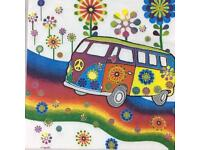 Pack of 20 paper party napkins camper van brand new