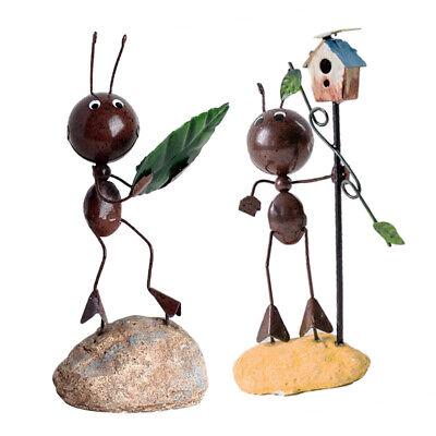 2xAnt Figur für Haus Innen und Garten Hof Dekor Stressabbau Schreibtisch (Haus Und Garten Dekor)