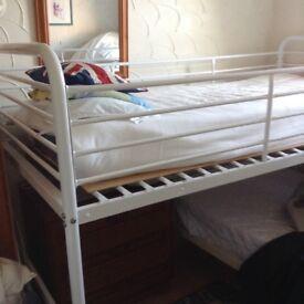 Single white Midi Bed