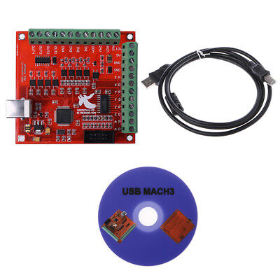 Cnc Usb Mach3 100khz Breakout Board 4 Axis Interface Driver Motion Controller 1x