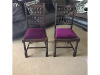 2 x dining room chairs