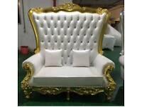 Throne chair hire,wedding sofa,photoshoot,bridal shower chair
