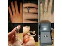 Engagement Ring - 950 Platinum Brilliant Cut Diamond Cluster.