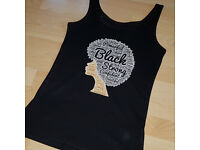 black afro vest womens tank top summer tshirt