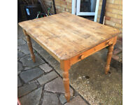 Old table with drawer - possibly pre-war.