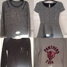 Clothes for.sale from £1 to £2. Sizes mostly from size8 to 10