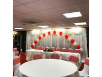 Chair covers centrepieces 5ft love letters candy cart post boxes backdrops wedding event hire items