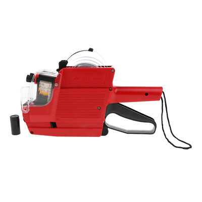 Mx-6600 10 Digits 2 Lines Price Tag Gun Labeler 6 Kinds Of Currency Red