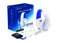 White Sony play station headphones 2.0
