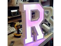 Light up letters. Multi colour marquee letter or number.