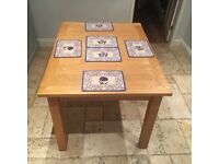 Solid oak extendable dining table, £150