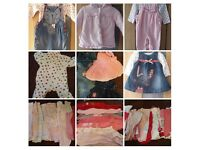 Bundle of baby girls clothing 3/6 months