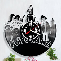 vinyl clock hand made Futurama wall art records christmas gift home decor