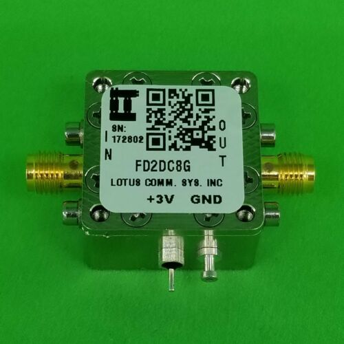 Frequency Divider/Prescaler Divide by 2 (100 MHz to 8 GHz)