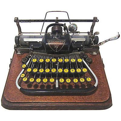 VTG Antique BLICKENSDERFER Model #7 TYPEWRITER w/ Original Case Circa 1897-1907