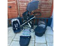 Mamas and papas Sola travel system with accessories