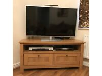 As new ! Lovely Oak finish TV stand purchased from Next