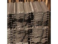 New Low Pitch Roof Tiles 30 plus 2 Tiles Sandtoft Double Roman Grey WILL SPLIT INTO BUNDLES OF 8's