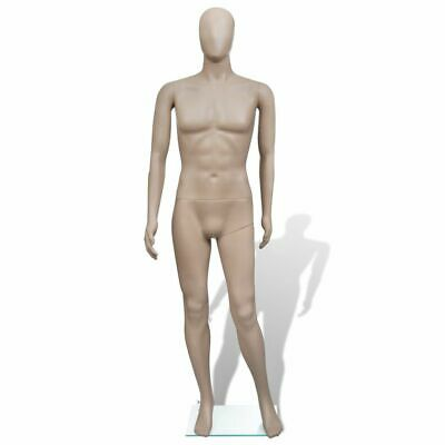 Vidaxl Adult Male Full Size Man Round Head Store Mannequin W Stand Display