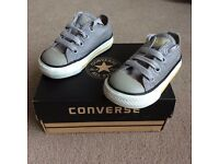 Baby Converse trainers - size 4 - in fantastic condition