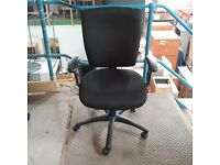 Office team black fabric posture seating chair