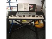 Yamaha Digital Keyboard YPT - 255 with Stand