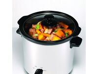 Morphy Richards 460006 Round Slow Cooker, 3.5 L - Silver NEW