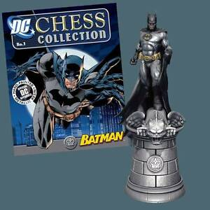 BATMAN DC CHESS FIGURE #1 in BOX & MAG Eaglemoss UK DC Comics Molendinar Gold Coast City Preview