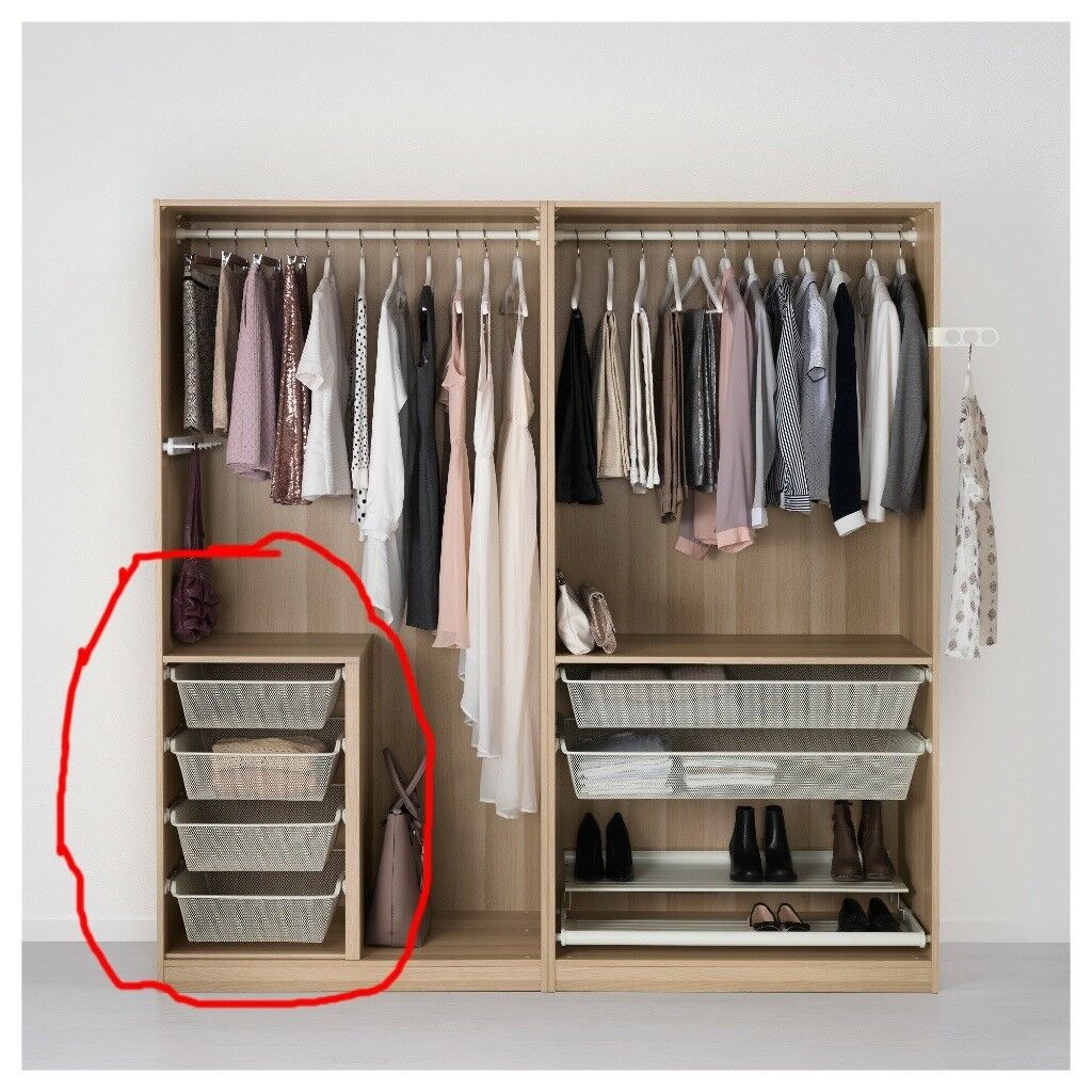 Komplement Divider And Wire Drawers Baskets For Ikea Pax