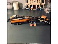 Lego 4x4 with Powerboat and two minifigs, set 60085