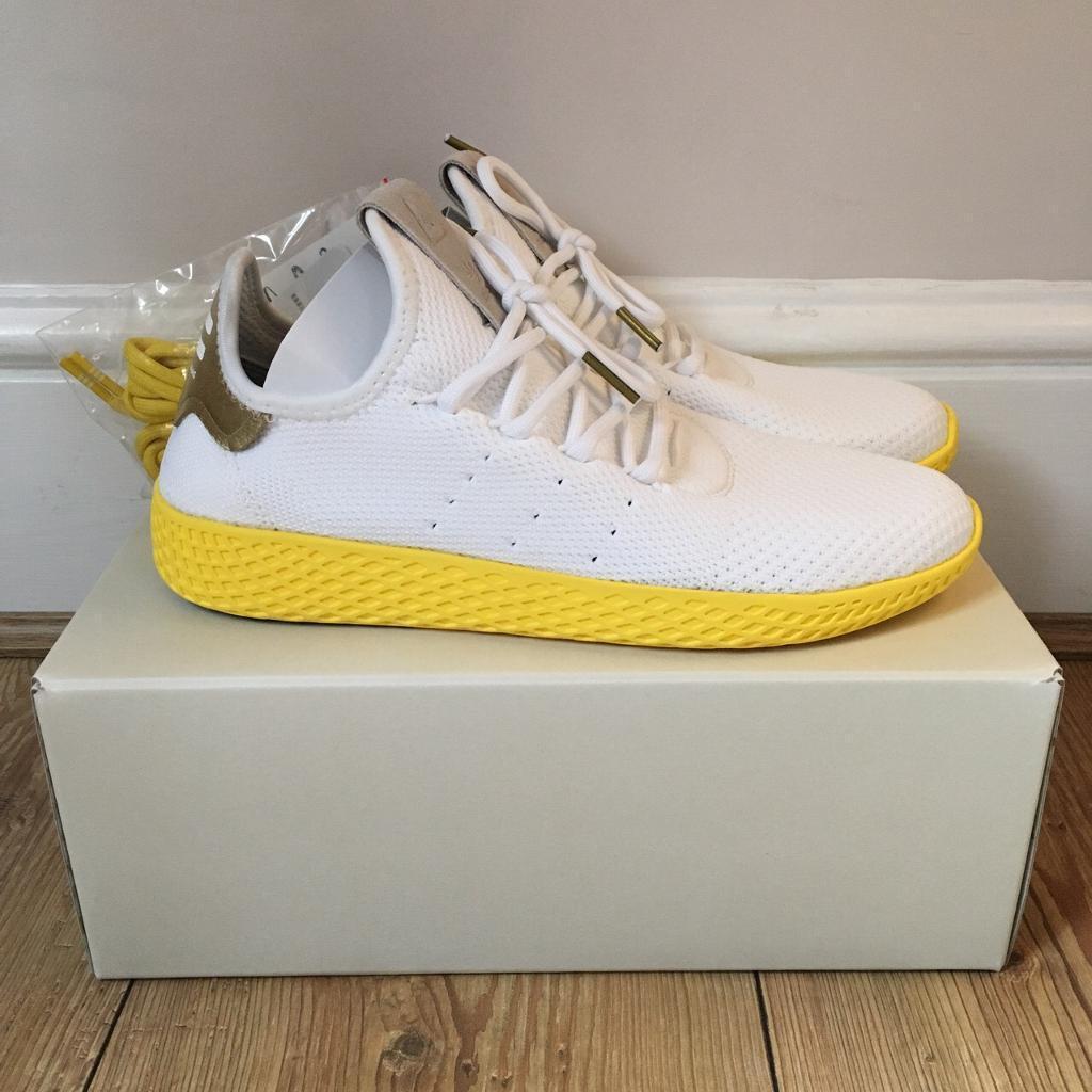 7d6d2010bc194 Adidas Pharrell Williams Tennis HU Yellow White UK5
