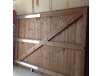 Big wooden gates