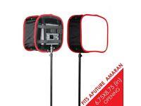 D-fuse Kamerar Softbox for Aputure Amaran AL-672 and AL-528 LED photo and video lights