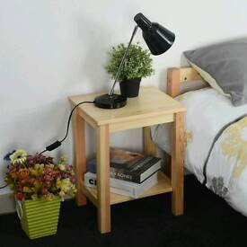 Hand made solid wooden night stand